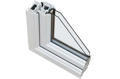 double glazing section
