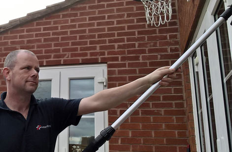 pure water window cleaning gutter clearance